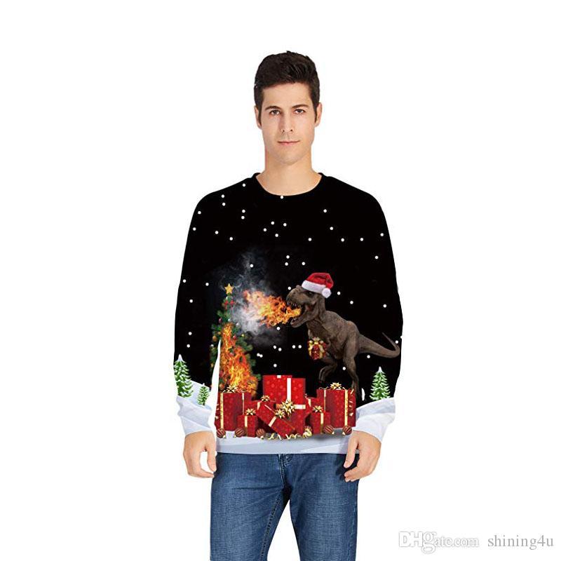 Joyeux Noël Sweats à capuche Unisexe imprimé animal Vêtements de sport d'hiver Hommes Ourdoor Fitness Habillement Mode Noël exercice Sweatshirts