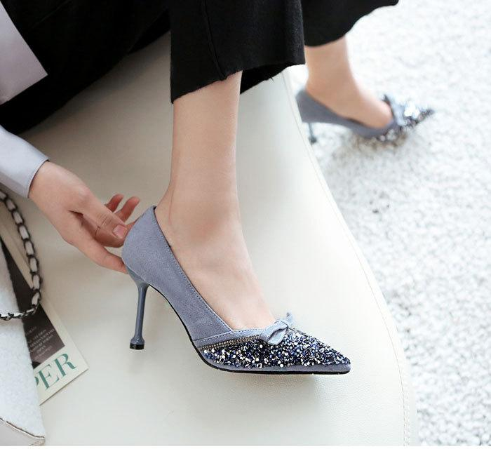 With Women's Tennis Light Color Evening Gown Red 2019 Spring New Style Wedding Shoes High Heel Shoes Daily Life Thin Heeled Poin