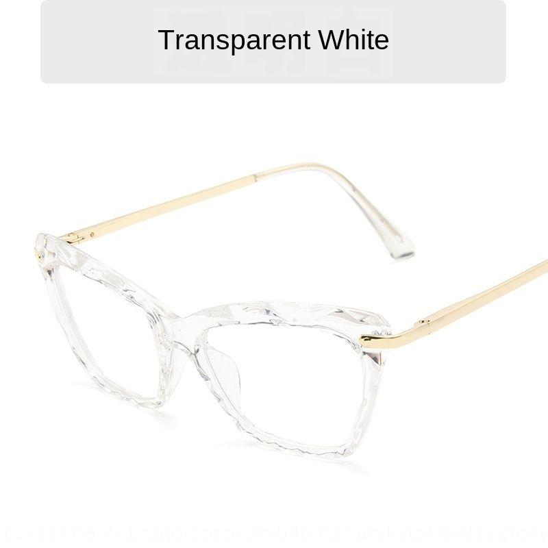 l'oeil de chat chat mode simple Lunettes cadre noir monture de lunettes de couleur unie