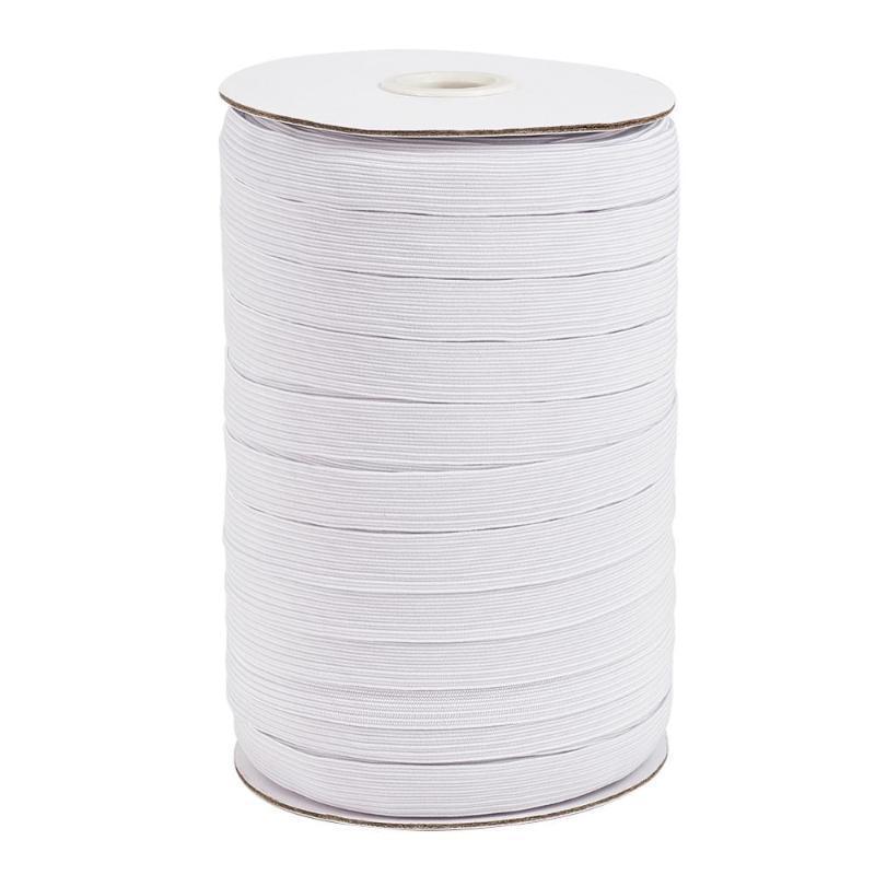 1roll Plano Elastic Cord estiramento Corda Costura Branco / Preto 4/5/6/8/10/12/14 milímetros Handmade Função Múltipla