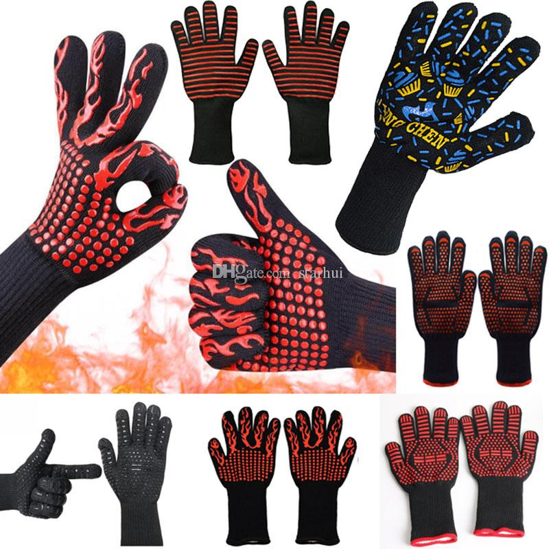 500 Celsius Heat Resistant Gloves Great For Oven BBQ Baking Cooking Mitts In Insulated Silicone BBQ Gloves Baking Pastry Tools WX9-381