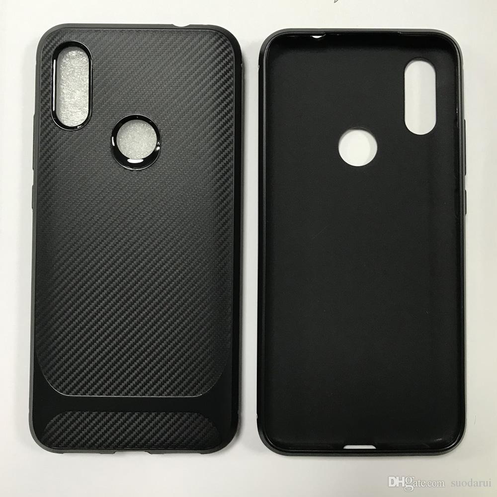 Custodia in TPU morbida di vendita calda per Xiaomi Redmi 7 / 7a / Note7 / Go New Back Cover in fibra di carbonio Nero Disponibile