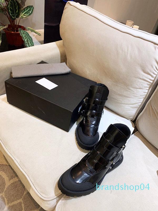 Hot hommes de luxe Vente-chaussures Martin bottes d'hiver dames automne Designer chaussures dames en cuir véritable bottes femme Bottines avec boîte à chaussures Bee