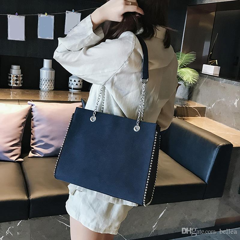 Designer Kette Umhängetasche Berühmte Niet Diagonal Paket Damen Luxus Schulter Diagonal Paket Taschen für Frauen 2019