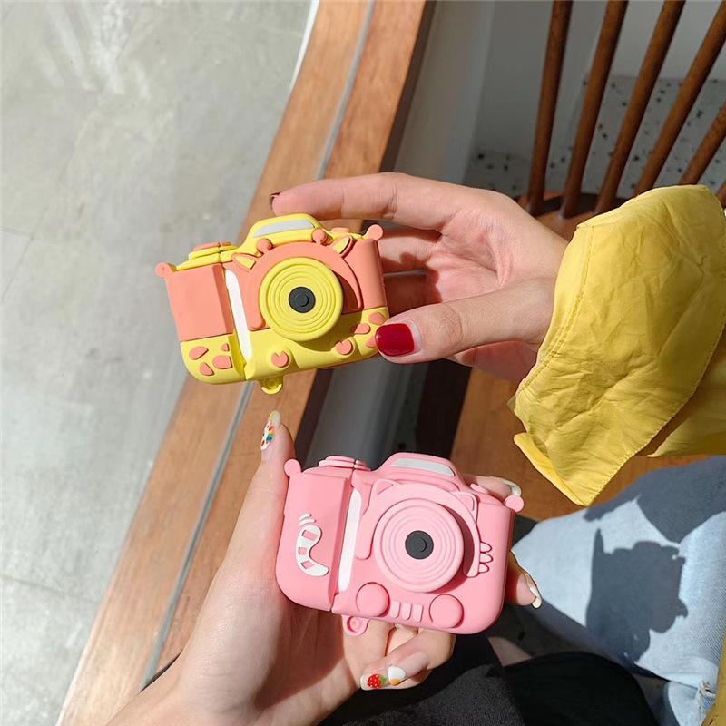 لAirPod كاميرا 1 2 حالة الوردي الزرافة خنزير لطيف الكرتون حالات لينة سيليكون سماعة لحالة أبل Airpods الغلاف فوندا