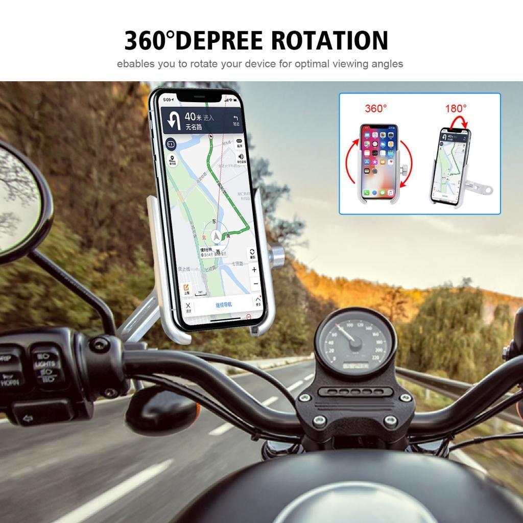 Rückspiegel-Telefon-Halter-Standplatz-Legierung ATV GPS-Navigationshalterung