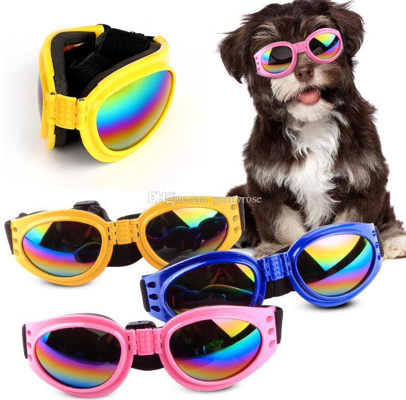 Dog Glasses Fashion Foldable Sunglasses Medium Large Dog Glasses Big Pet Waterproof Eyewear Protection Goggles UV Sunglasses 6 Colors