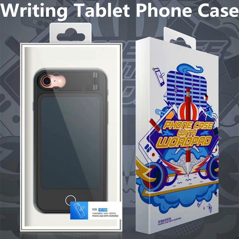 Per iPhone tavoletta della cassa del telefono X 8 8 Inoltre Pittura tavolo da disegno digitale copertura del respingente del silicone pieno con confezione di vendita
