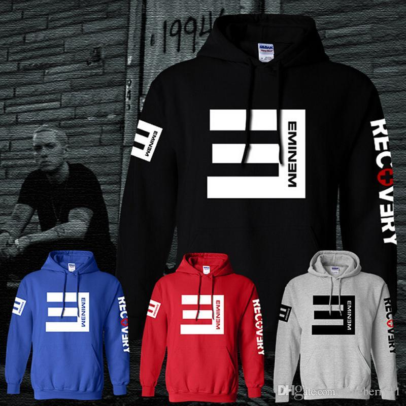 Winter Men's Fleece Hoodies Eminem Printed Thicken Pullover Sweatshirt Men Sportswear Fashion Clothing free shipping