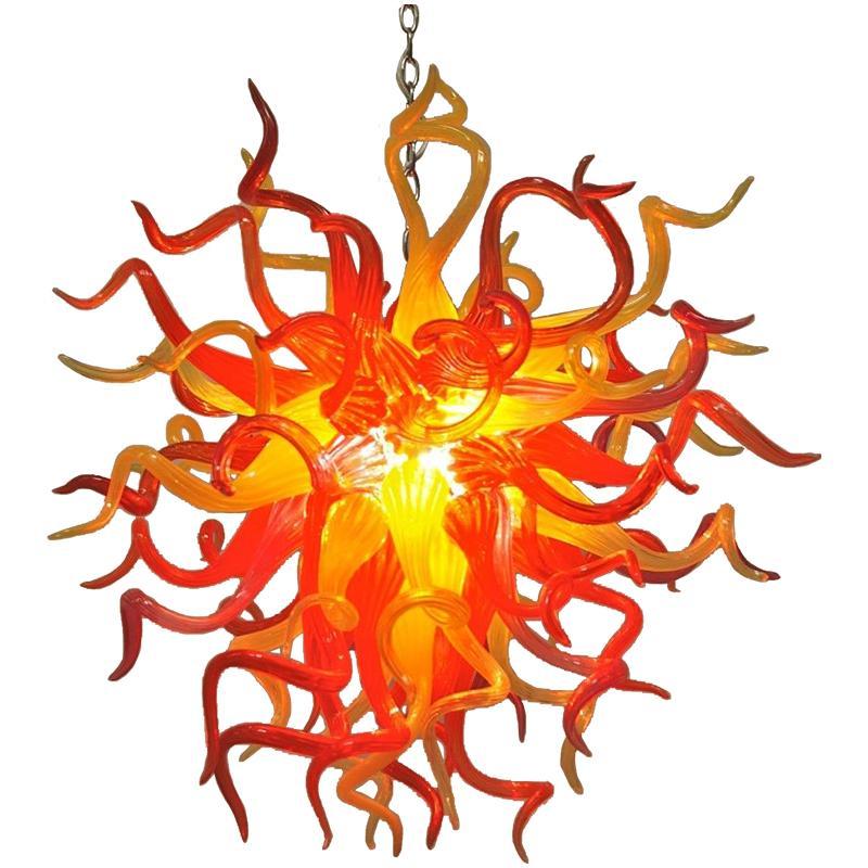 Blown Glass Chandeliers Modern Art Designed Murano Glass Pendant Light Cheap LED Pendant Lighting for Home Decor Free Shipping
