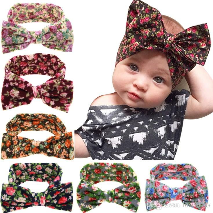 Cute 8Pc Kids Infant Baby Girl Bowknot Elastic  Accessories Headdress Hair Clip