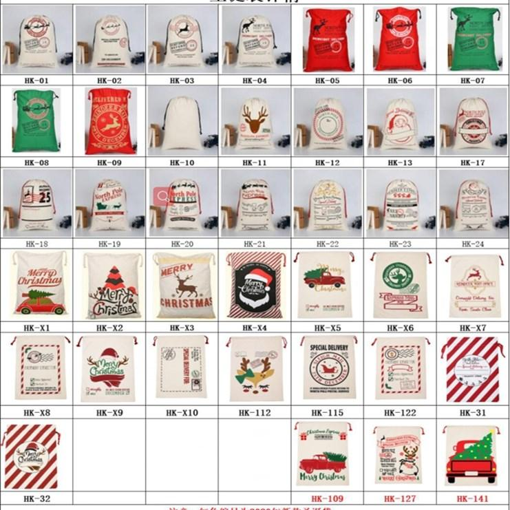 Sacs de cadeau de Noël monogrammable Santa Santa San Sac Sac à cordon Santa Claus Deer 39 Designs Mer en vrac Livraison BWE527