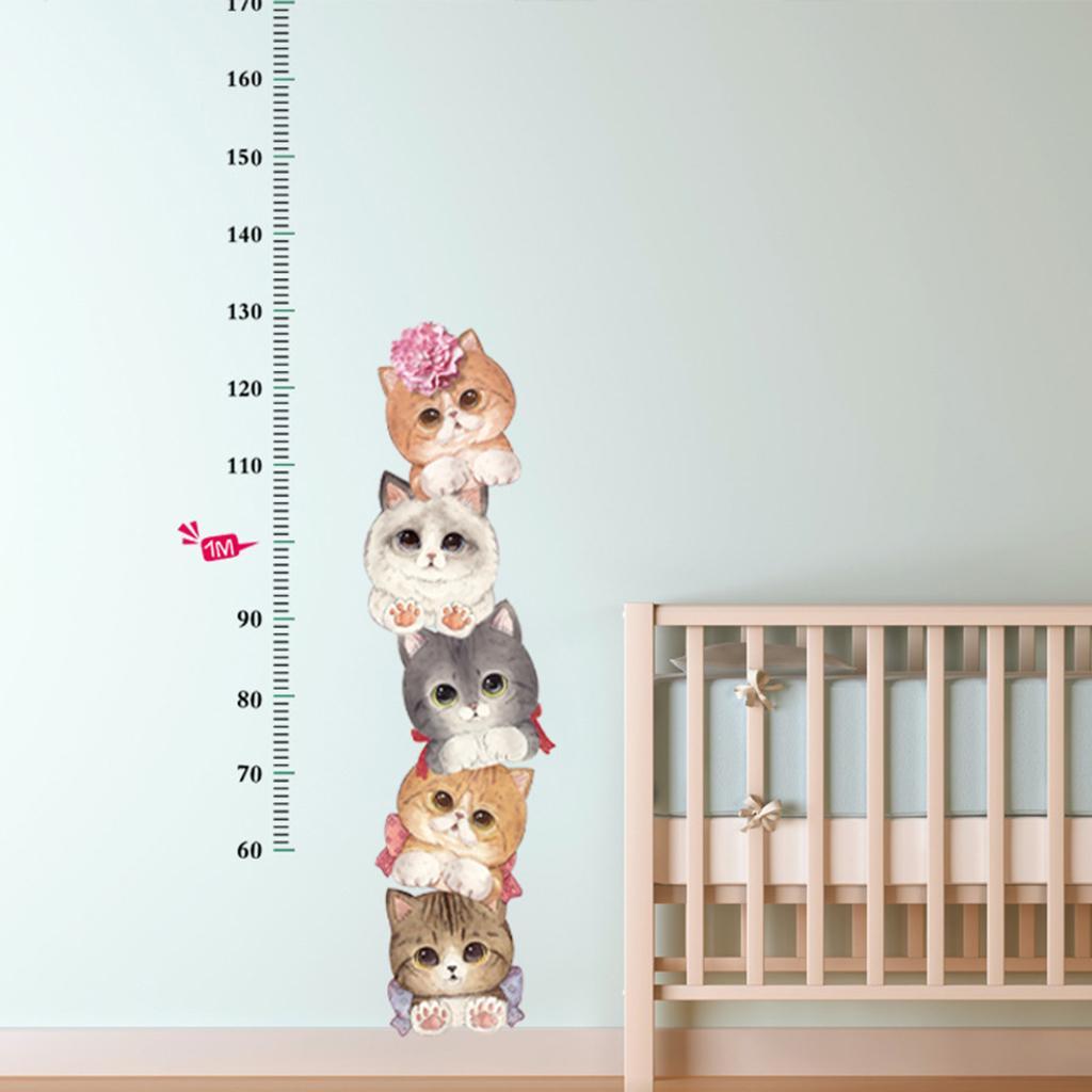 Hauteur d 'échelle Mesure la croissance Graphique Stickers Muraux pour les enfants de nurseries Chambre Maison Décor Decal Art