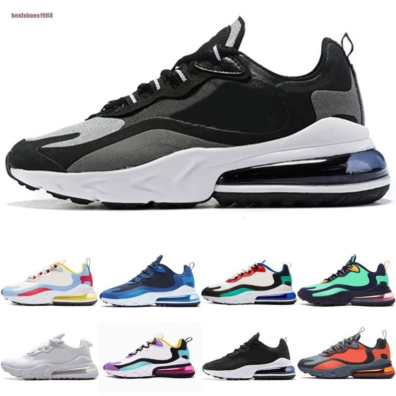 NikeAirMax270React 2020 Marque De Mode Réagir Designer Sport Chaussures De Course Hommes Femmes Élevé Bauhaus Rose Blanc Noir Formateurs Zapatos Sneakers 36-45