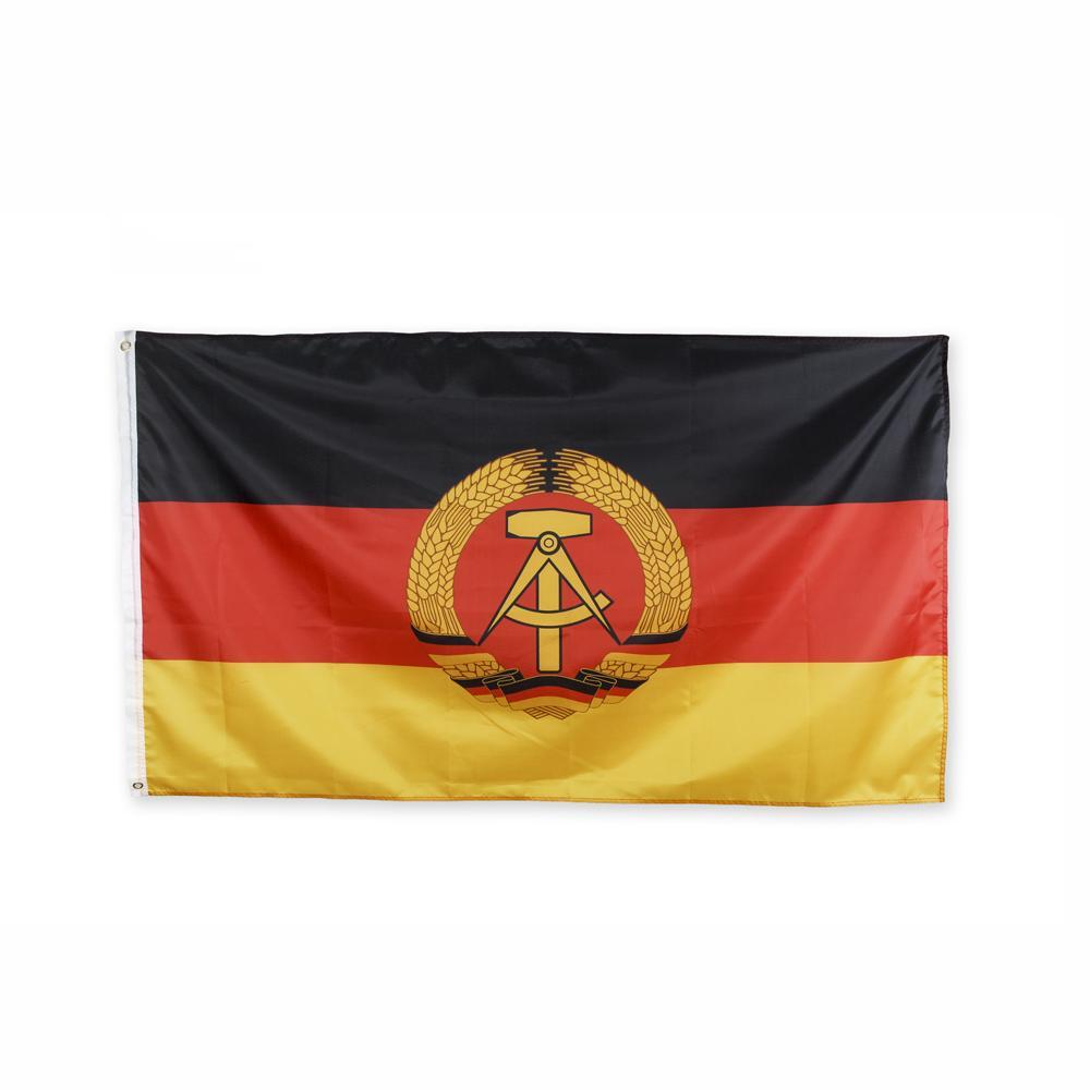 Ost-Deutschland Flagge 3x5FT 150x90cm Polyesterdruck Indoor Outdoor-National Hanging Flagge mit Messingösen Kostenloser Versand
