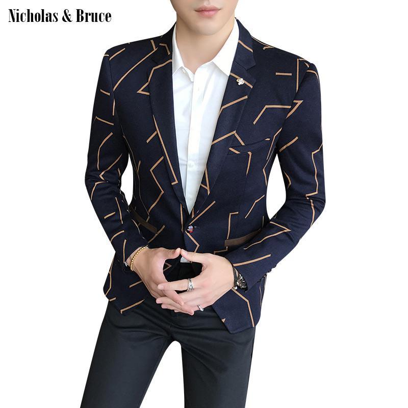 N&B Suit Jacket 2019 Men Formal Black Blazer Mens Frock Coat Wedding Man Jacket Slim Fit Business Suit Coat Dress Blazer SR24