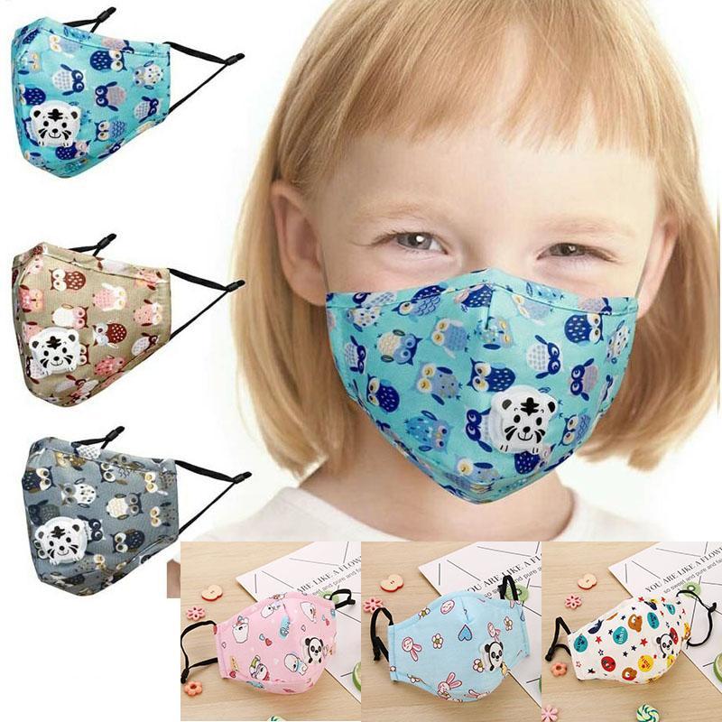 الأطفال PM2.5 مع التنفس صمام القطن إدراج أقنعة المنشط مكافحة الضباب الدخاني أقنعة واقية الكربون مع 1 قطعة تصفية XD23616