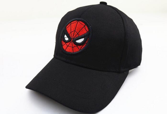 Children's Spider-Man Bend along the Cap Boys Embroidery Hip Hop Baseball Cap