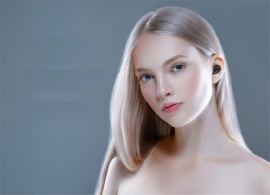 Mini Tws auricolari V5.0 Vero Wireless Bluetooth Headset maiale sveglio Mini auricolare con il carico di caso di Bluetooth 5.0 Auricolari Tappi per le orecchie # OU632