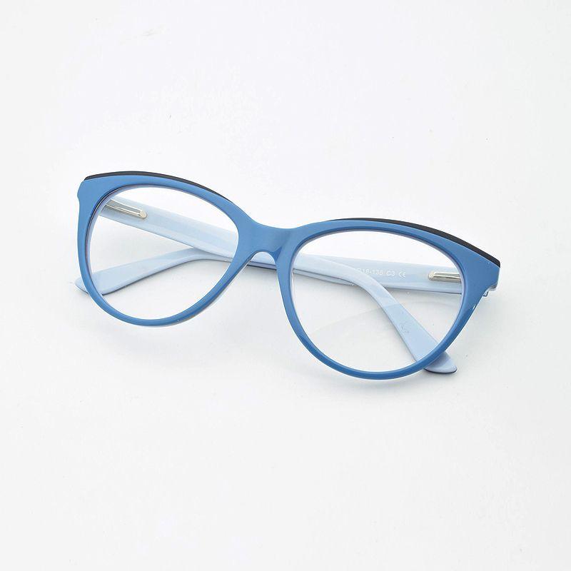 Cornice di vetro rosso femminile di moda piastra viola Cornici White Box decorativo blu occhio di gatto occhiali miopia Occhiali Primavera cerniera T200428