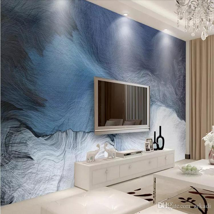 3d modern new Chinese TV sofa background wall cloth ink painting abstract freehand wallpaper living room wallpaper mural arkadi