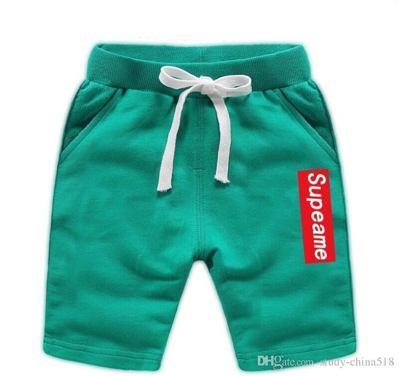 Летняя мода детские купальники брюки корейские пляжные брюки детский сад пять очков брюки бикини джинсы