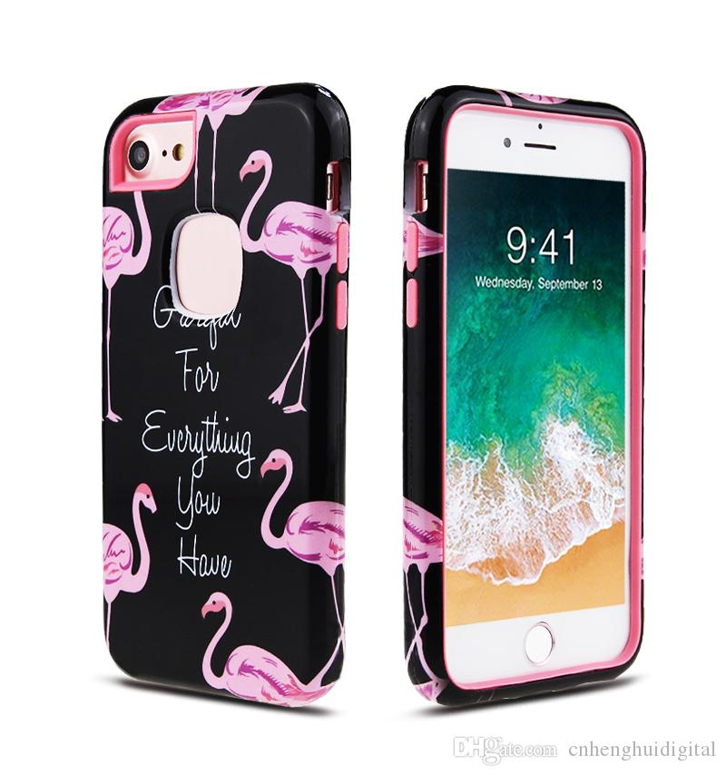 Water paste PC+TPU protective cover hard case for LG Aristo 2 Stylo 4 Iphone 8 8 plus 5S new skin Good price Oppbag