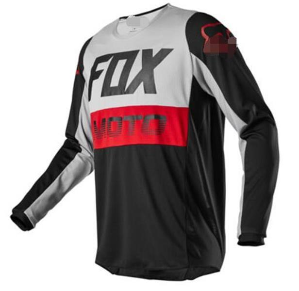 tilki aynı özel ile off-road tişört yokuş aşağı uzun kollu polyester çabuk kuruyan bisiklet takım erkekler yarış takım elbise açık hava sporları yarış
