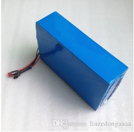 48V 20A Ebike Lithium-Ionen-Akku mit großer Kapazität 48V 20AH Li-Ionen-Akku für Elektrofahrräder mit PVC-Gehäuse Eingebaut in 30A BMS 2A-Ladegerät