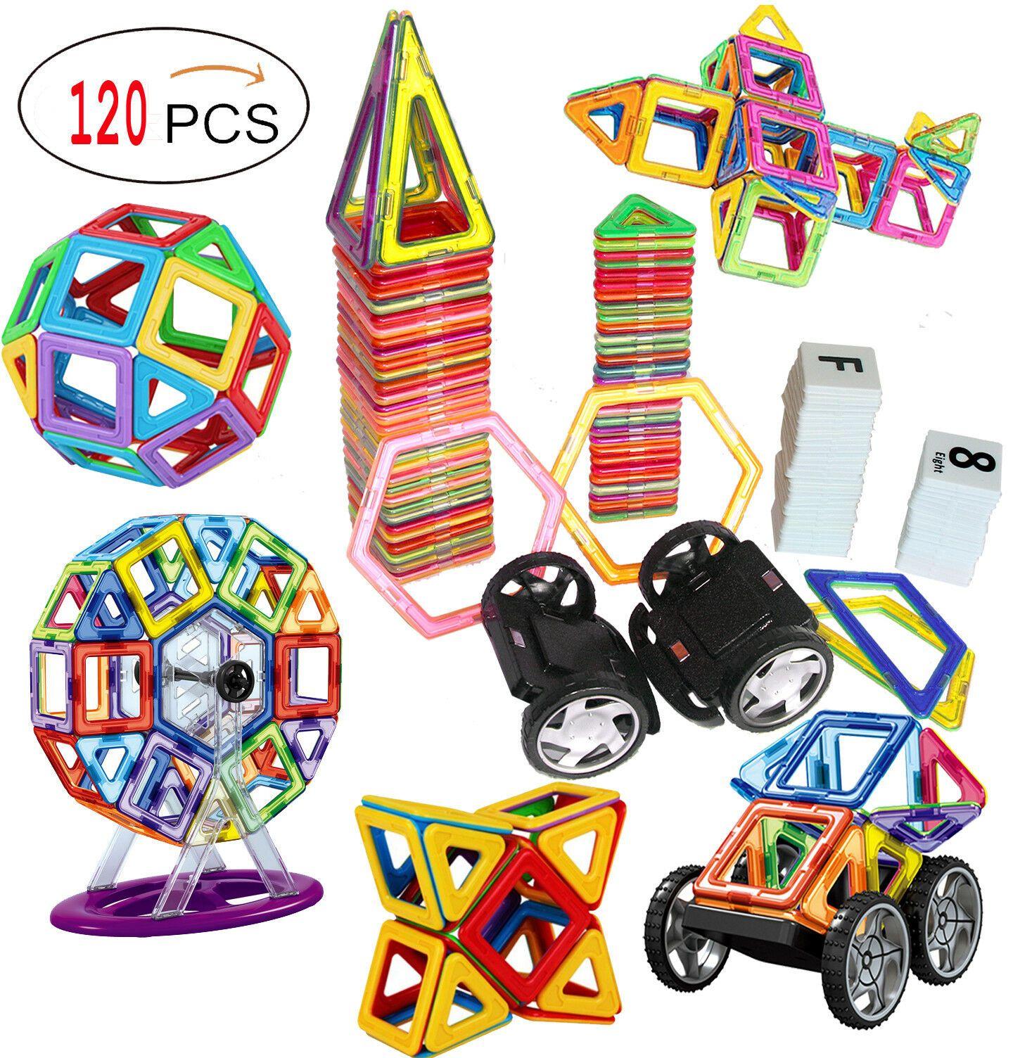 120 Stück Magnetische Fliesen magnetische Bausteine Spielzeug für Kinder