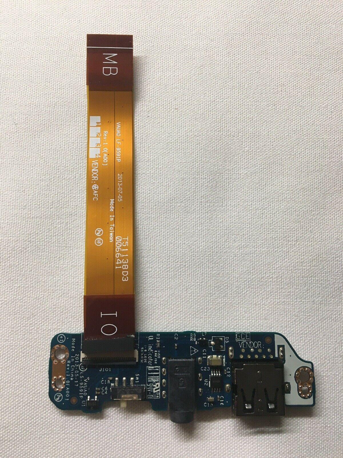 carte USB d'origine Fo DELL E7440 interrupteur d'alimentation audio-cn 0H65F0 LS-9591P travail à 100%
