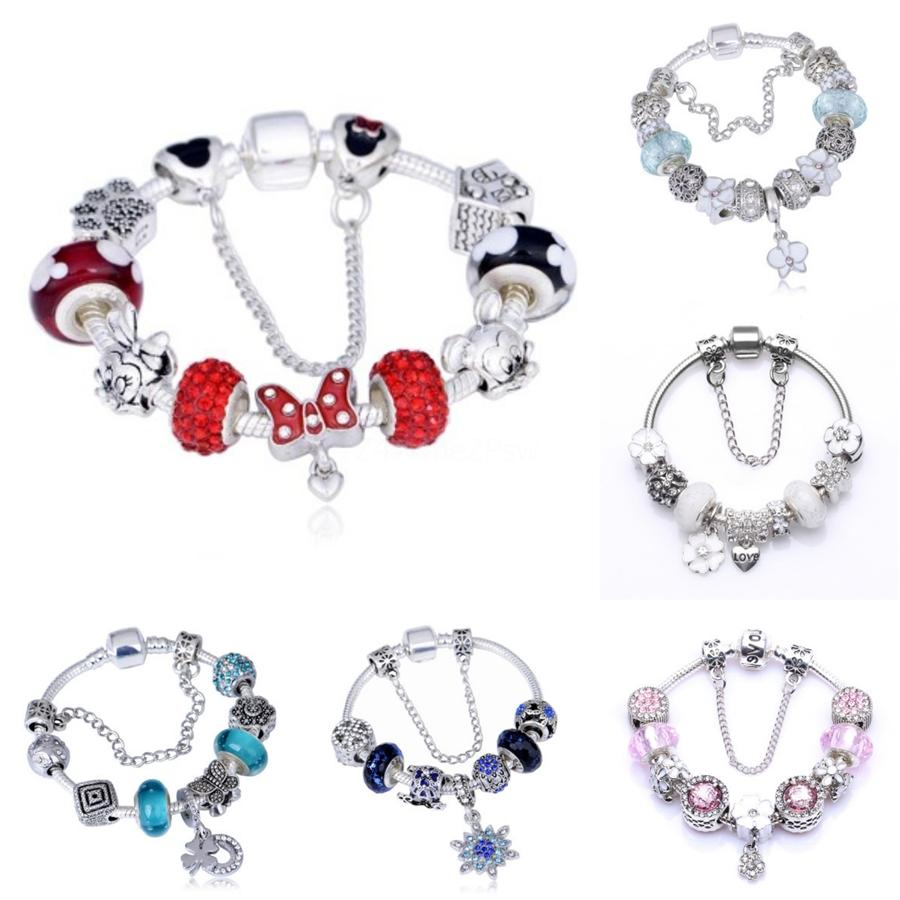 Fits Pandora Charms Bracelet 925 Sterling Alloy Bead Sparking Butterfly Dangle Charm With Zircon Women Diy Beads For Jewelry#594