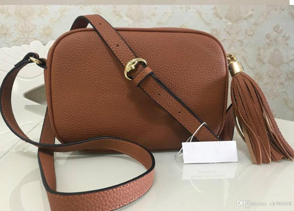 2020 Diseñador Monedero de lujo bolsos de alta calidad del bolso del famoso bolsos de las mujeres bolsos de Crossbody Bolsa Soho Disco Bolsa de hombro bolsa con flecos Pur