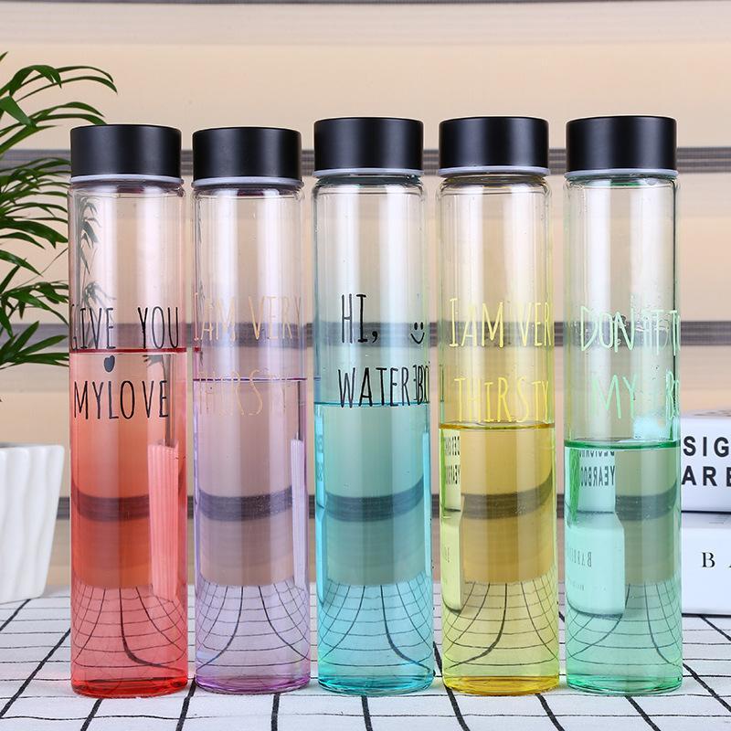 Étoile en verre bouteille d'eau bouteille d'eau potable mode multi couleur populaire bouteilles d'eau facilement bouteille avec couvercle gratuit Bpa T8190627