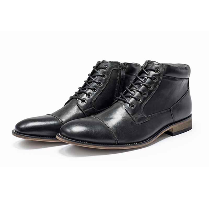 LuxuxMens Entwerferkleidschuhe Retro Leder Schwarz Braun Spitzschuh Rindsleder Schuhe Mode für Männer Beiläufige Geschäfts Stiefel mit Kasten