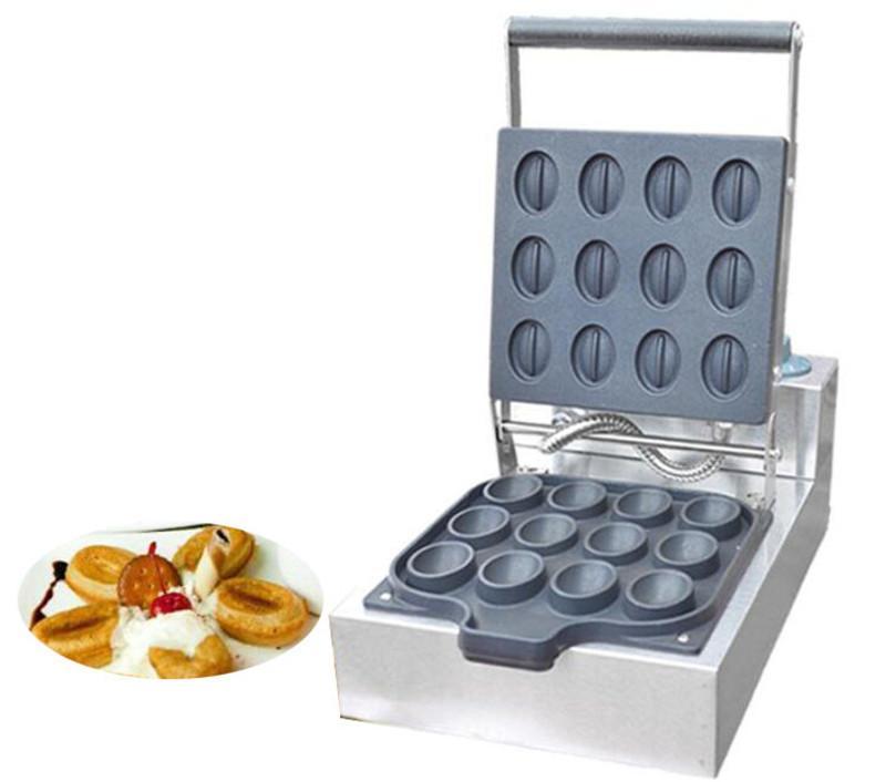 Бесплатная доставка коммерческий мини кофе в зернах вафельница электрический вафельница машина с таймером 110 в 220 В