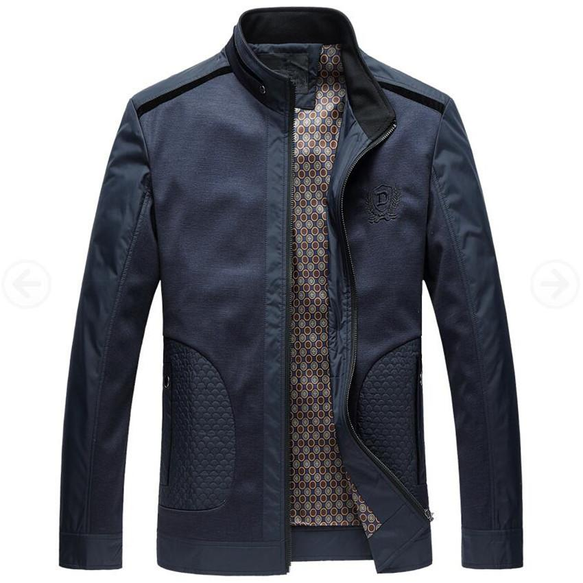 Men Jacket 2017 New Fashion Veste Homme Business Spring Jacket Thin British Style Men Jackets Male Stand Collar Autumn Coats 4xl T4190617