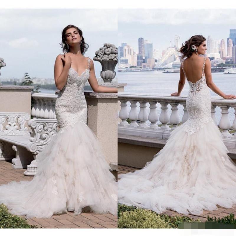 2019 Vestidos elegantes mütevazı ucuz artı boyutu bahar dantel mermaid gelinlik basit gelinlikler robe de mariée