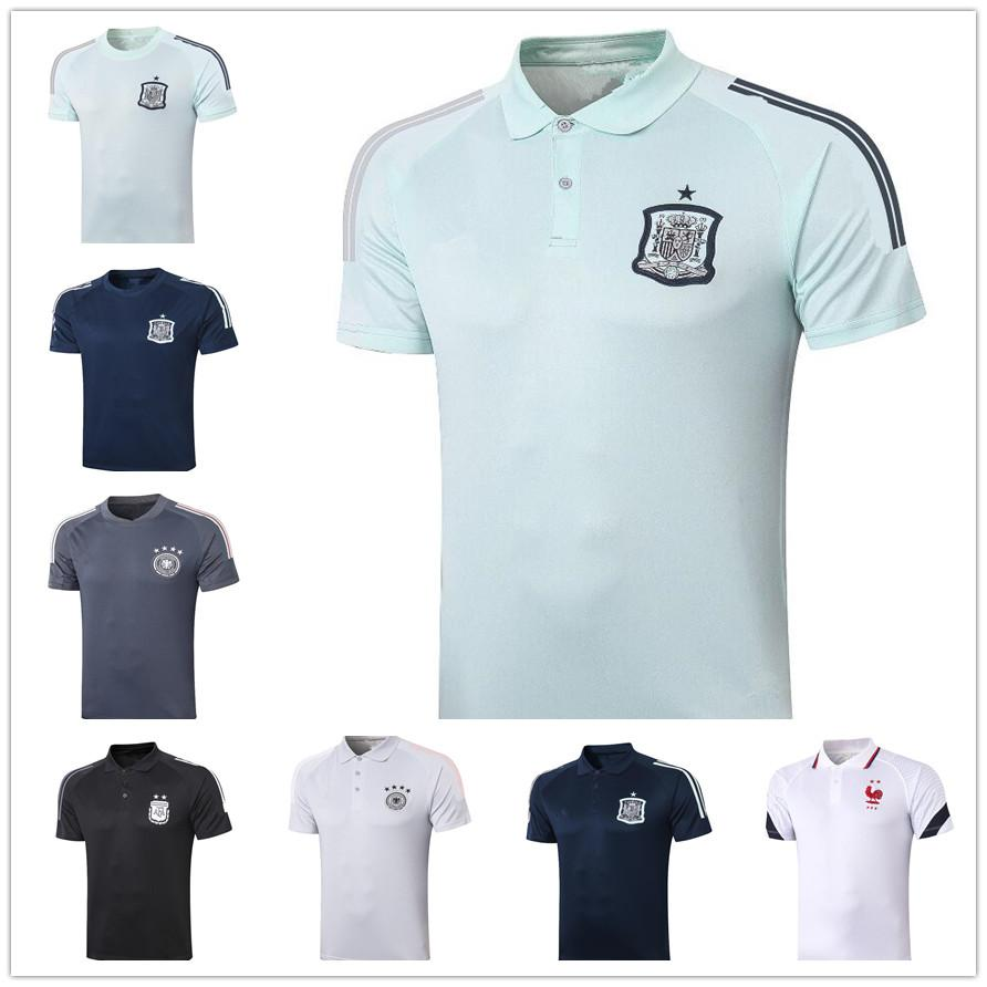 Spain polo 20 20 Argentina French football team POLO shirt 20 21 high quality soccer Jersey training jogging
