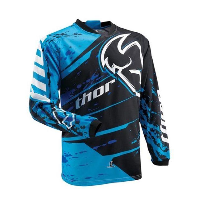 THOR Motocross Jersey Factory Racing manches longues Moto vélo t-shirt respirant VTT MX Moto Vêtements