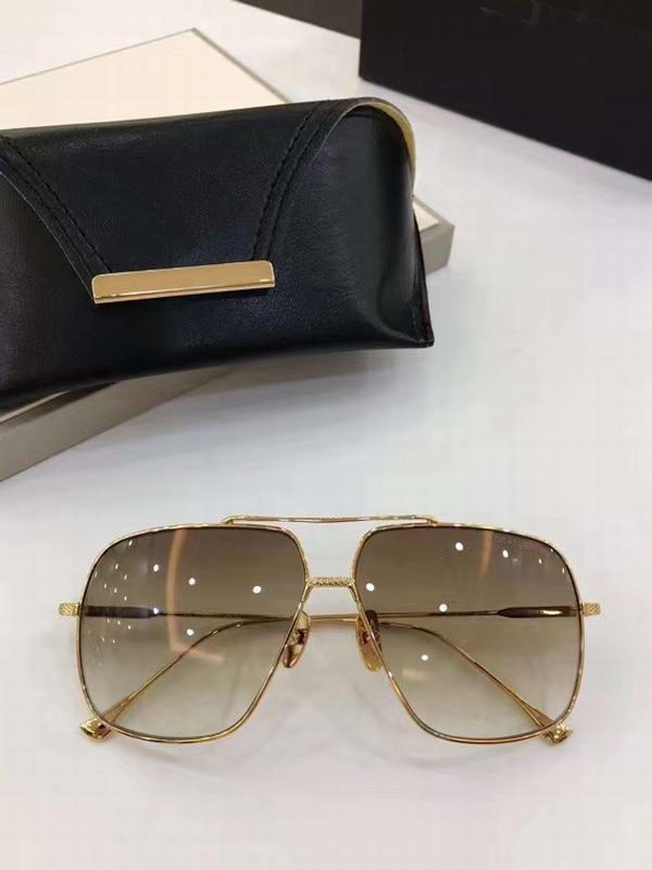 Старинные солнцезащитные очки Gradient Occhiali Новая Золотая рамка Браун с квадратными объективами Солнцезащитные очки Металл Da Sole Men 7805 Коробка RJXNV