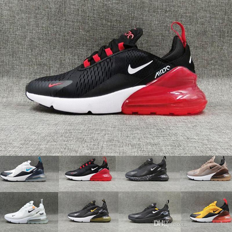 Nike Air Max 270 27c airmax Scarpe da corsa economici Uomini Donne Trainer essere vero Hot Punch Triple Black White Oreo Teal photo Blu Sport Sneakers Taglia 5,5-11 MM6591