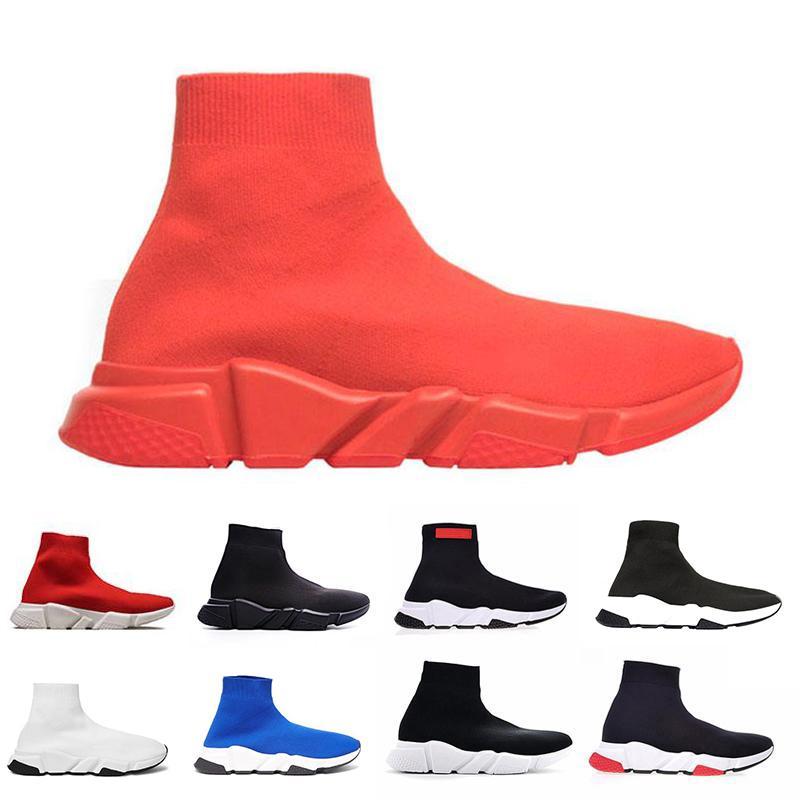 Moda de lujo de los sueños Diseñador calcetín casual Zapatos Speed Trainer Negro Rojo Triple Negro Calcetines clásicos Sneaker Trainer calcetines zapato 36-45