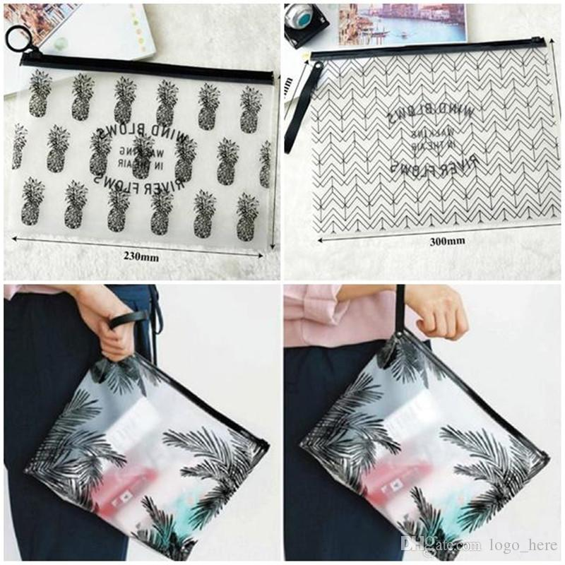 Hot Clear Makeup Bags PVC Waterproof Toiletry Cases Travel Organizer Bath Wash Bag Pouch Pencil case R0193