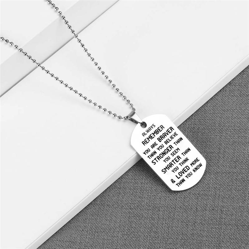 To my son Stainless Steel necklace Gift for Husband Dad Brother Friend Driver Christmas Gifts