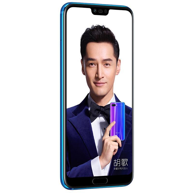 """Original Huawei Honor 10 4G LTE Mobile Phone 8GB RAM 128GB ROM Kirin 970 Octa Core Android 5.84"""" Full Screen 24.0MP AI AR NFC 3400mAh Face ID Fingerprint Smart Cell Phone"""