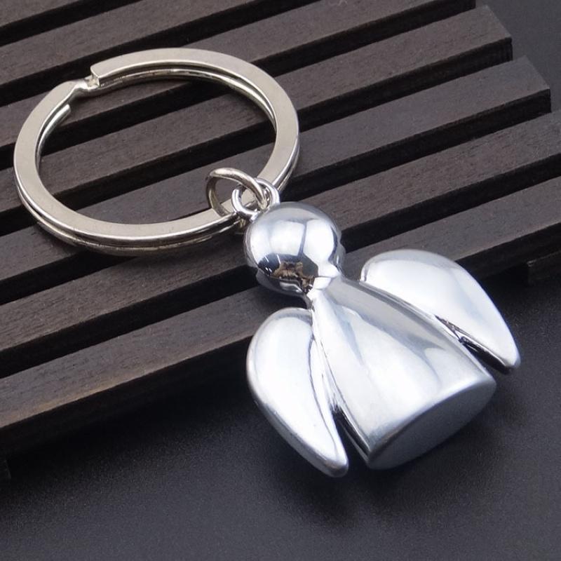 Творческого Металл Ангел брелок Мода Пара ключи автомобиль цепь сумка талия Висячий Gospel Angel Key Ring любители группа для лучших ювелирных