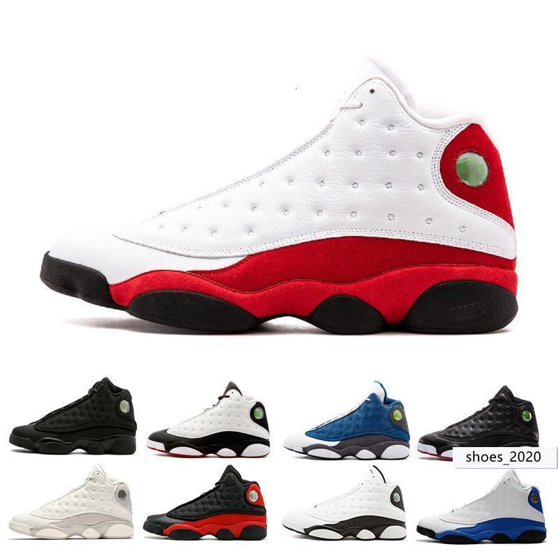 Yeni 13 erkekler basketbol ayakkabıları o var oyunu Phantom siyah kedi bred Chicago hiper Kraliyet Playoffs İtalya Mavi barons Irtifa eğitmen spor Sneaker