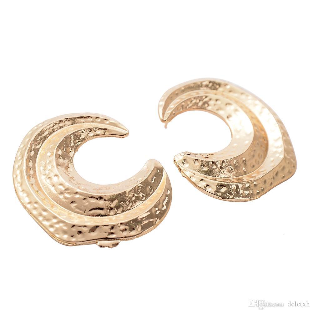 L'Europa d'oro e gli Stati Uniti gioielli cross-border semplice lega irregolare lega orecchini retrò esagerato mezzaluna semicerchio orecchio