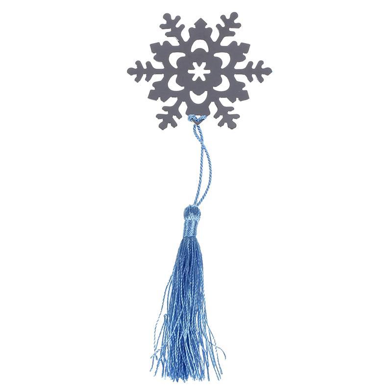 Croix d'Argent flocon de neige Coeur BOOKMARK Baptême CADEAU MIGNON XMAS CADEAUX NOUVEAU